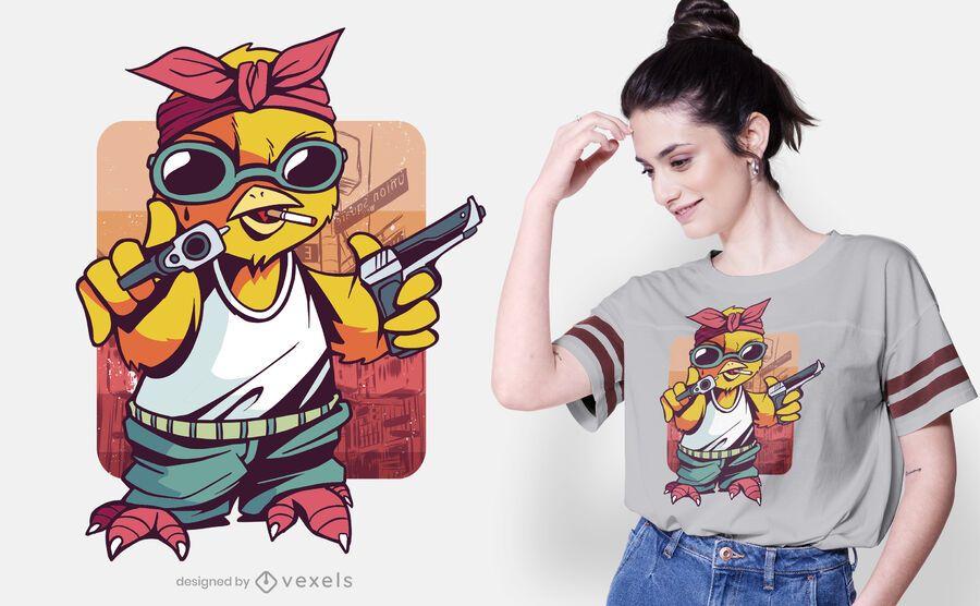 Gangster chick t-shirt design