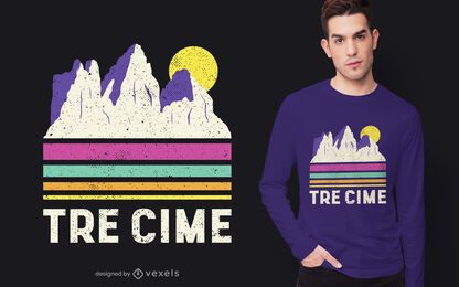 Diseño de camiseta tre cime