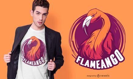 Design de camiseta com flamingo médio