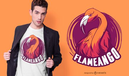 Diseño de camiseta Mean Flamingo