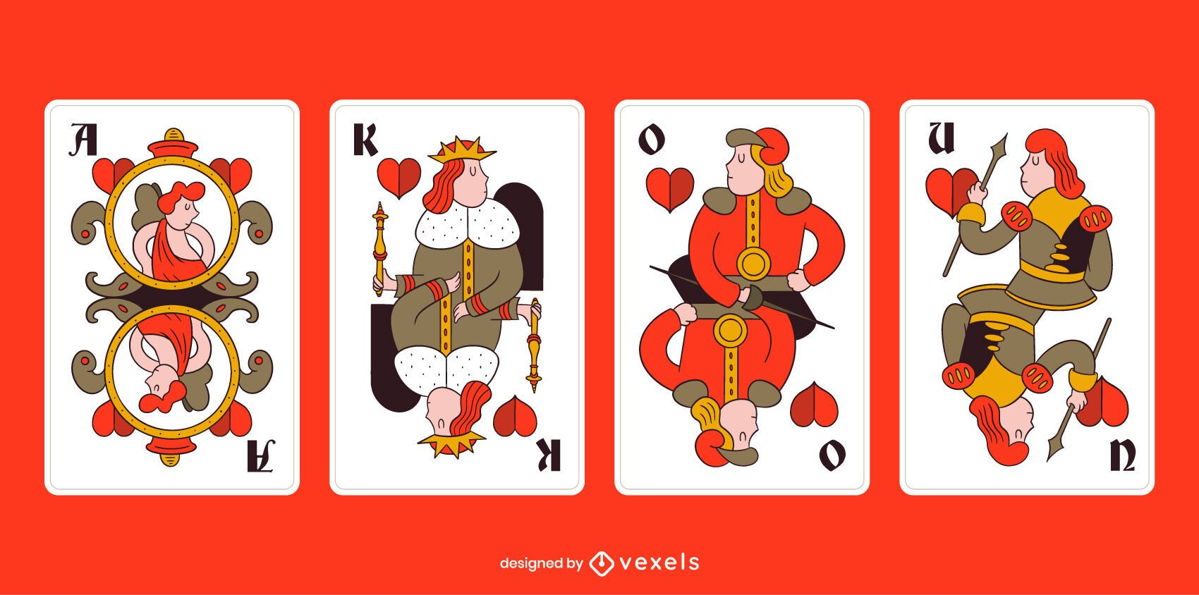 Bavarian Tarock Hearts Suit Card Pack
