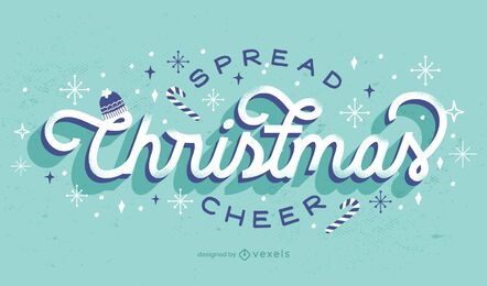 Propagação design de letras de alegria de Natal