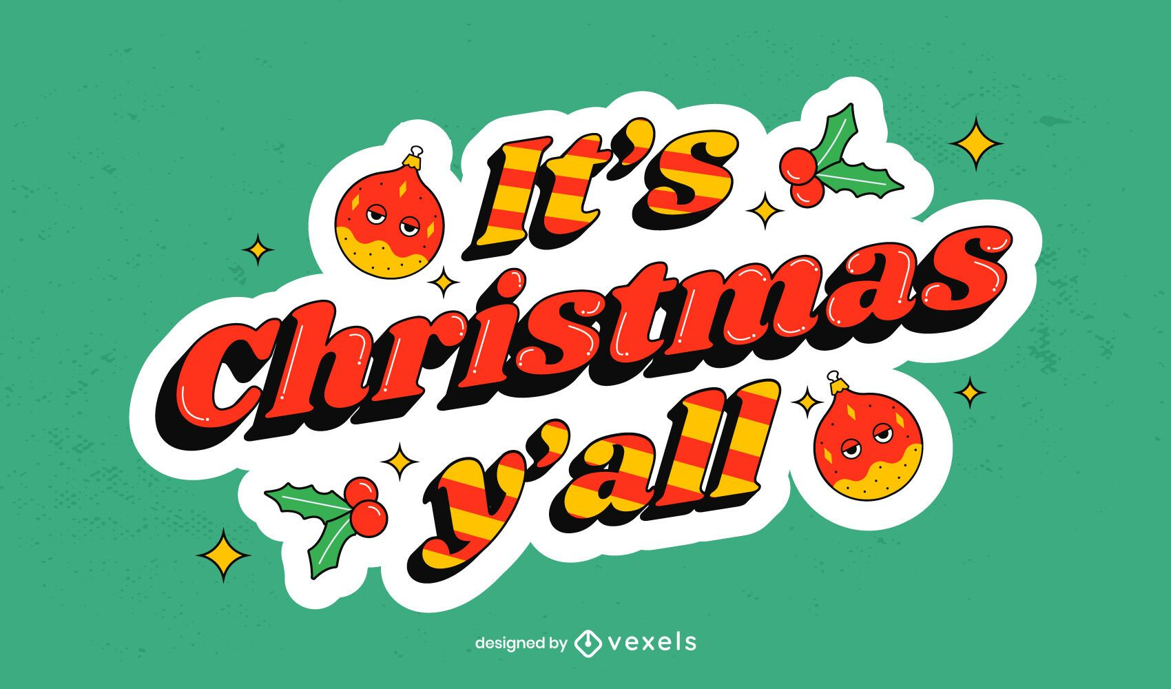 Es navidad todos ustedes diseño de letras