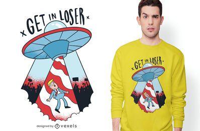 Entführtes Trumpf-T-Shirt Design