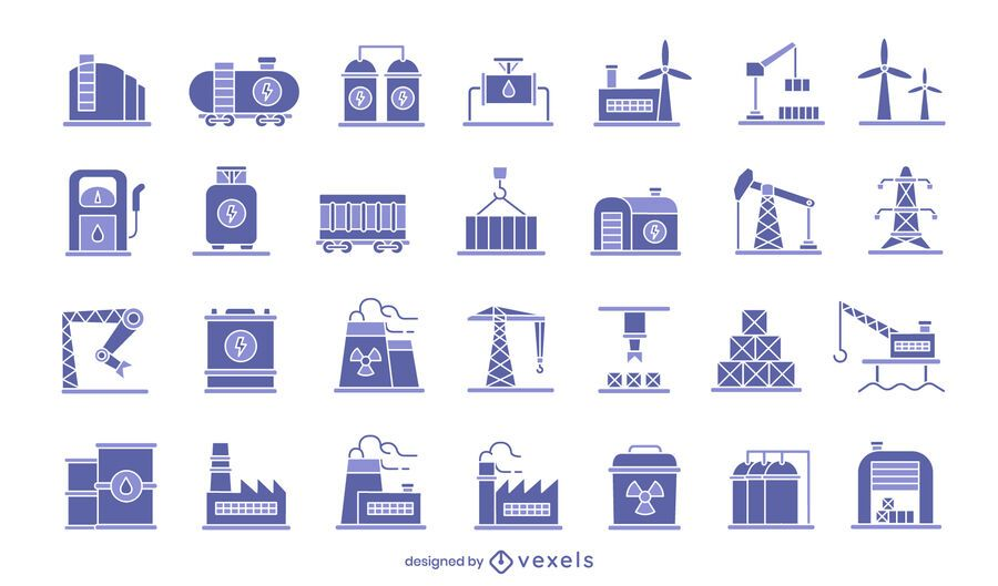 Industrie-Icon-Set