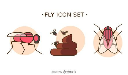 Conjunto de ícones de voo