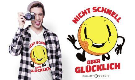 Nicht schnelles deutsches T-Shirt Design