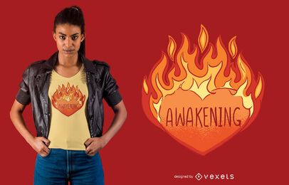 Awakening heart t-shirt design