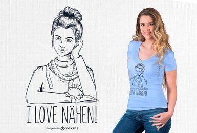 I love nähen t-shirt design