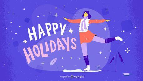 Boas festas ilustração de natal