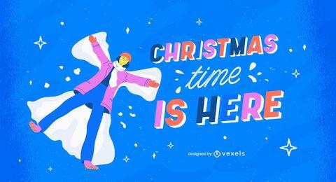 El tiempo de Navidad está aquí ilustración