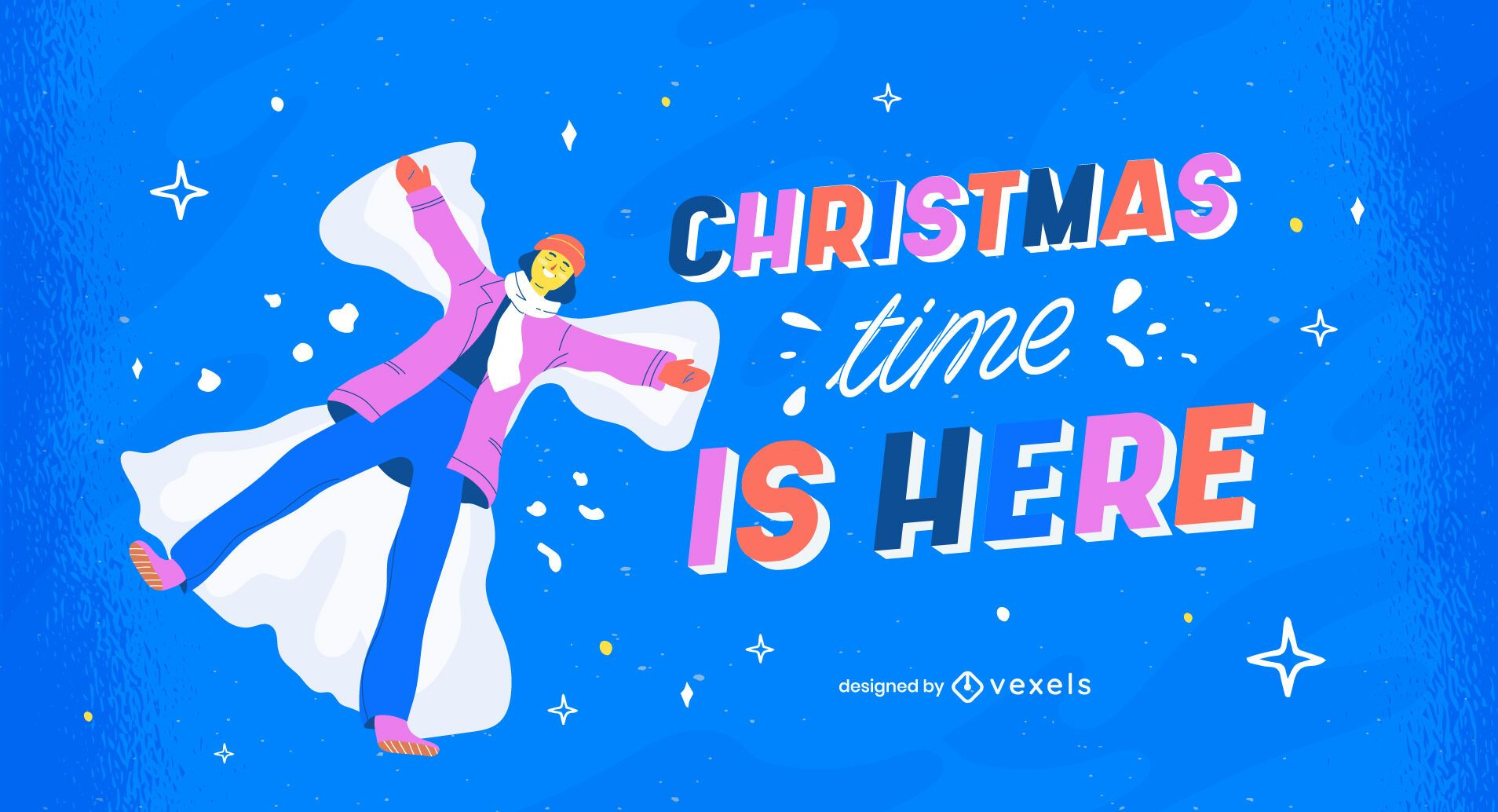 Christmas time is here illustration