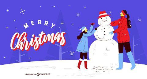 Diseño de ilustración de feliz navidad