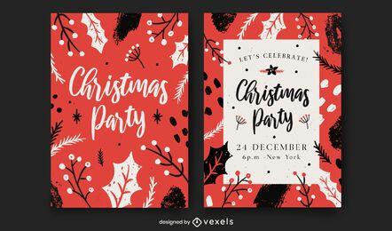Modelo de convite de festa de Natal