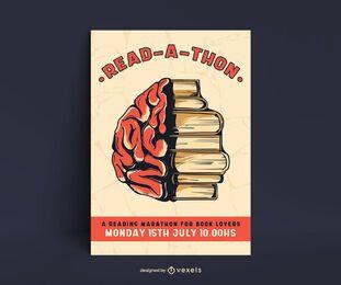 Plantilla de cartel de maratón de lectura