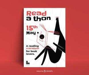 Plantilla de póster de desafío de lectura
