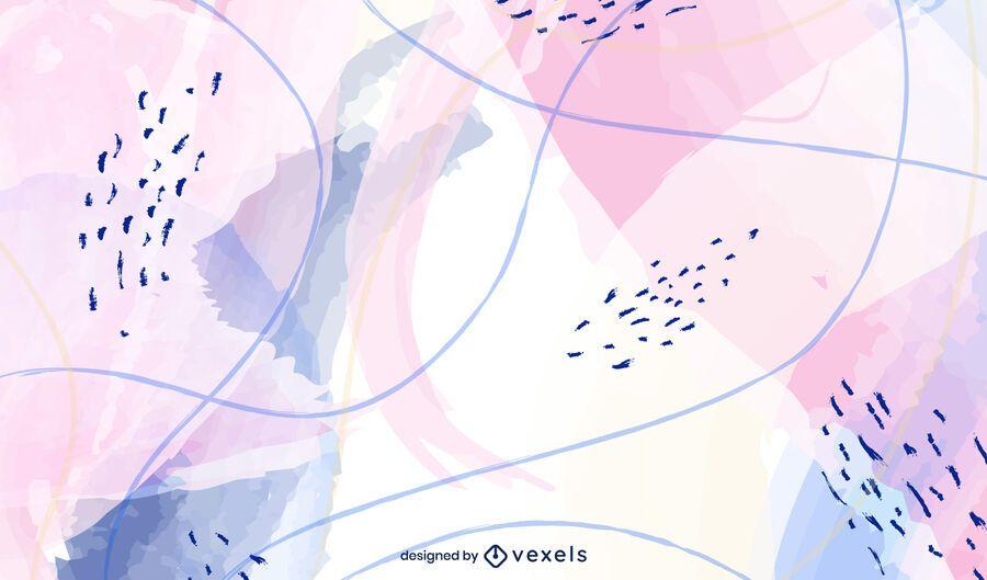 Diseño de fondo abstracto de acuarela