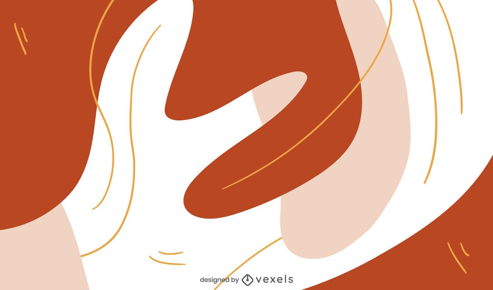 Diseño de fondo abstracto formas curvas