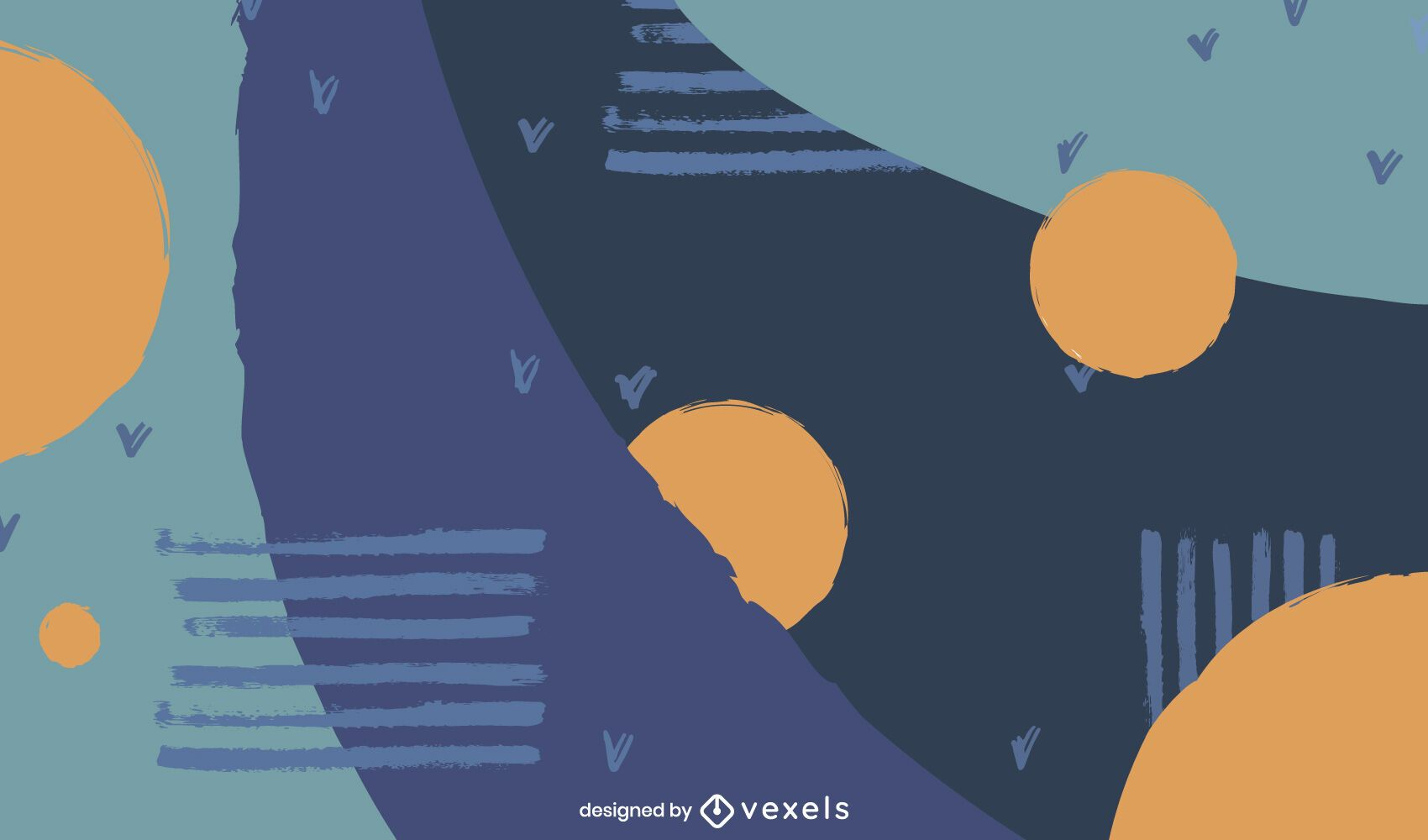 Diseño artístico de fondo azul