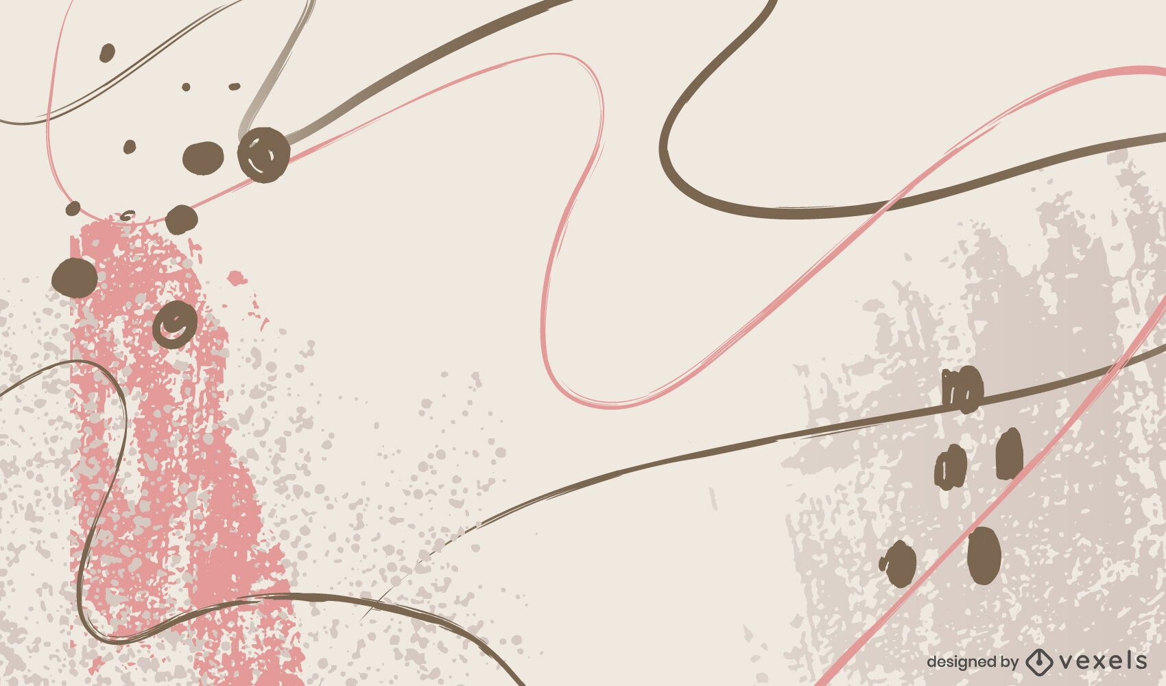 Diseño de fondo de curvas artísticas