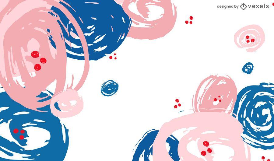 Artistic circles background design