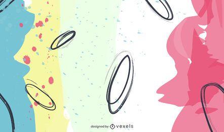 Diseño de fondo de formas abstractas