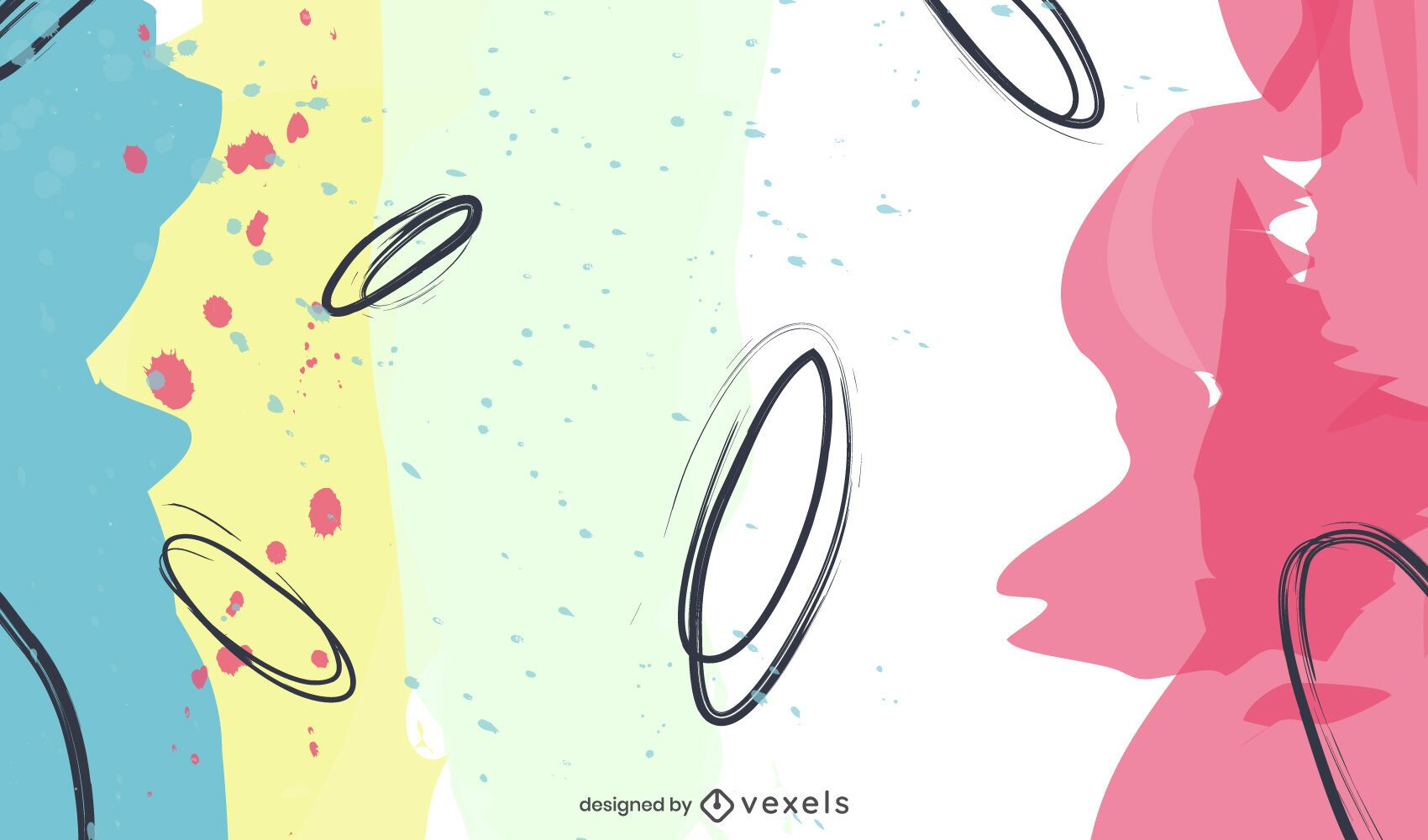 Abstract shapes background design