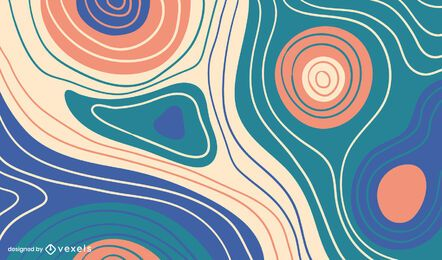 Curvy lines background design