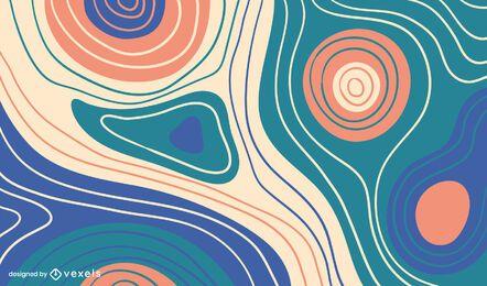 Diseño de fondo de líneas curvas