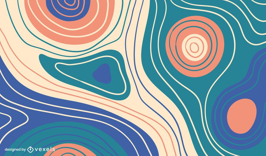 Design de fundo de linhas curvas