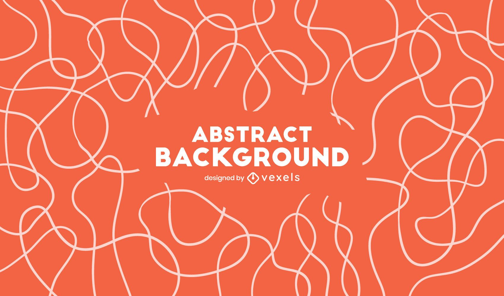 Abstract curvy lines background design