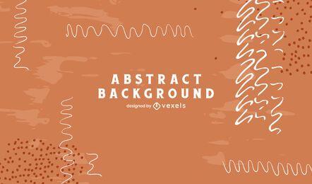 Diseño de fondo de líneas abstractas artísticas