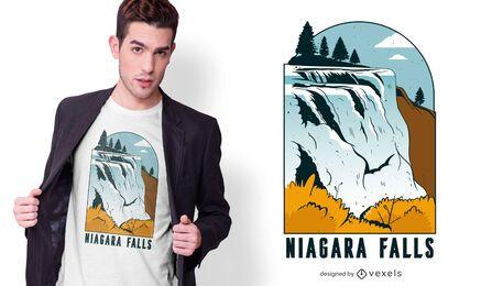 Diseño de camiseta de las Cataratas del Niágara