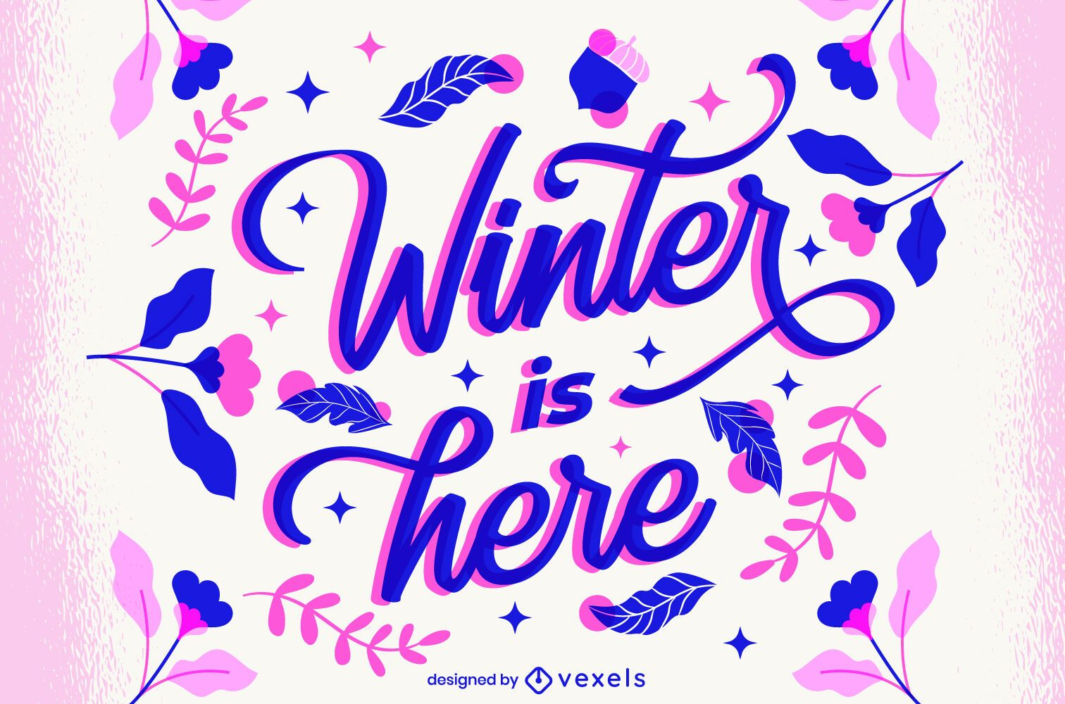 Winter is here lettering design
