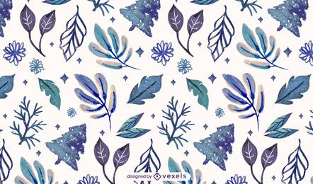 Winter leaves pattern design