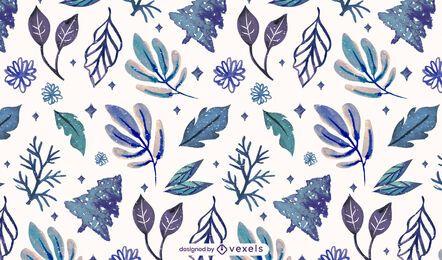 Winterblätter Musterdesign