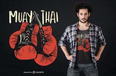Diseño de camiseta de guantes Muay Thai