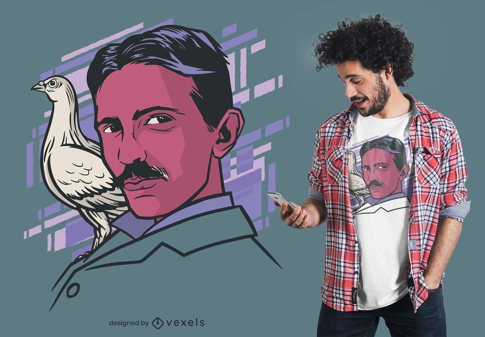 Tesla Bird T-shirt Design