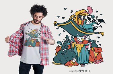 Waschbär Aladdin T-Shirt Design