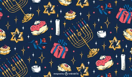 Hanukkah Holiday Pattern Design