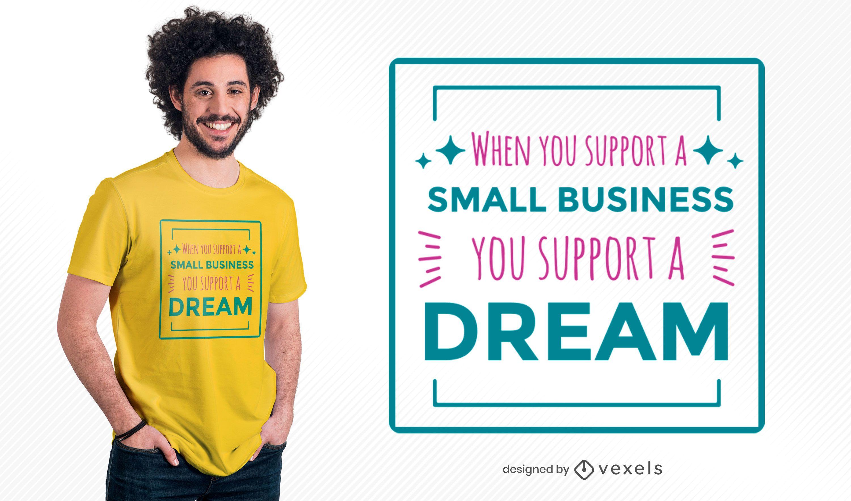 Diseño de camiseta de cita de pequeña empresa