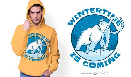 Mammoth Winter Quote T-shirt Design