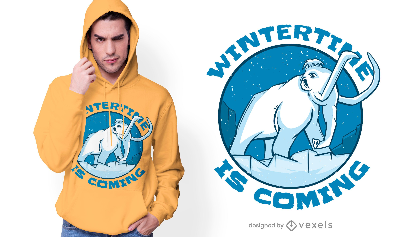Mammoth Winter Quote T-shirt Design