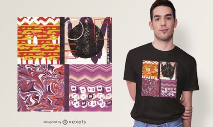 Diseño artístico abstracto de camiseta