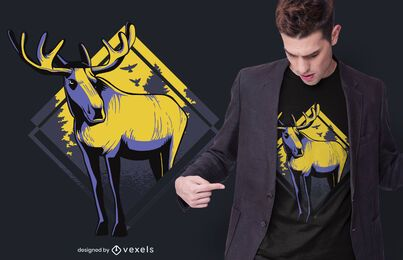 Standing moose t-shirt design