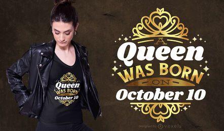 Diseño de camiseta del 10 de octubre