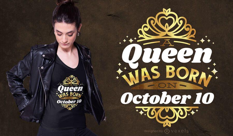 10 de outubro design de t-shirt