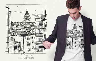 Istanbul Gebäude T-Shirt Design