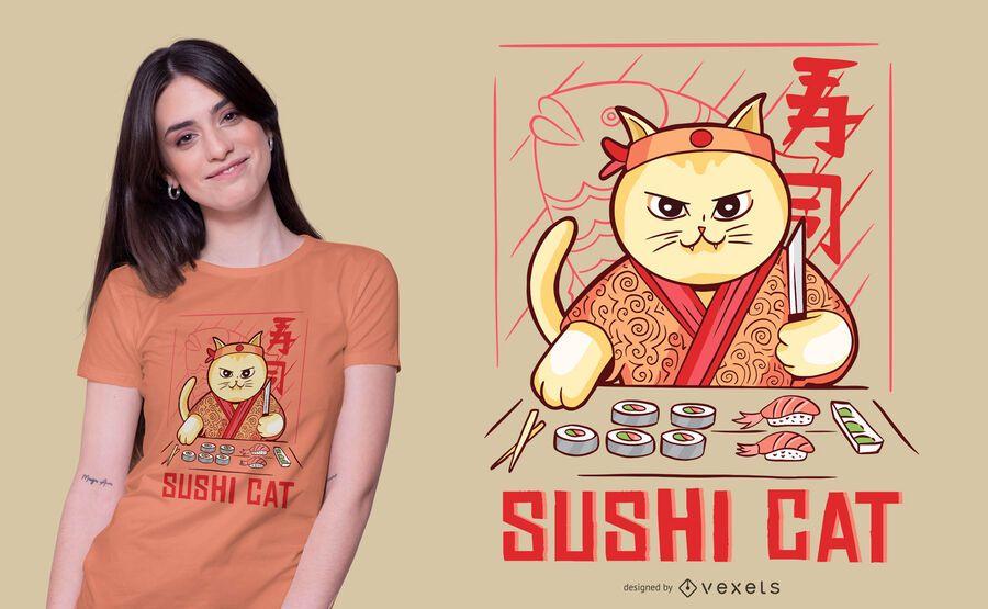 Sushi kitten t-shirt design