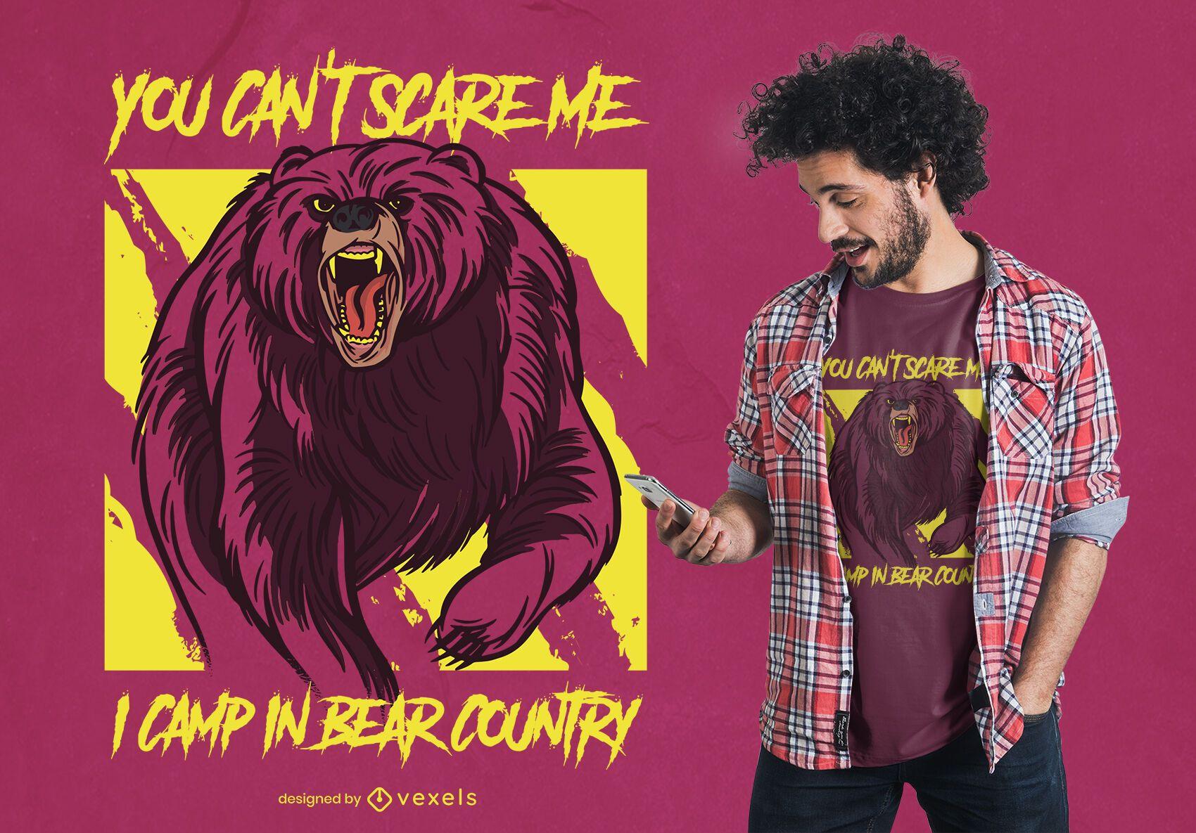No puedes asustarme diseño de camiseta